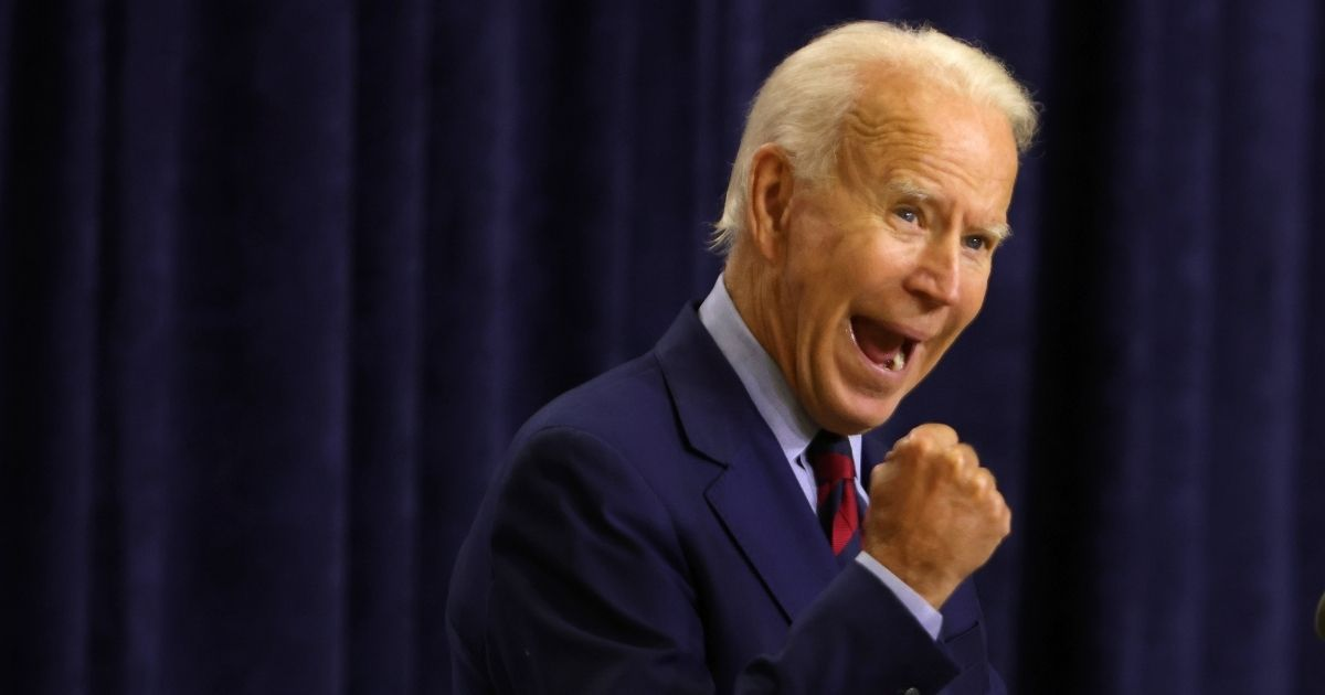 Democratic presidential nominee Joe Biden speaks during a campaign event on Sept. 4, 2020, in Wilmington, Delaware.