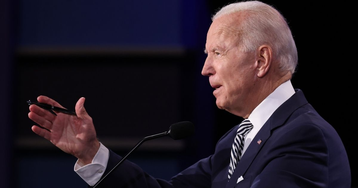 Democratic presidential nominee Joe Biden participates in the first presidential debate against President Donald Trump at the Health Education Campus of Case Western Reserve University on Tuesday in Cleveland, Ohio. (Win McNamee / Getty Images)
