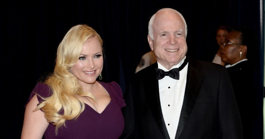 Meghan McCain, left, with her father, Republican Sen. John McCain of Arizona, in 2014.