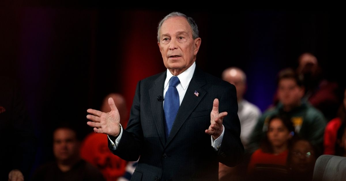 In this March 2, 2020, file photo, then-Democratic presidential candidate and former New York City Mayor Mike Bloomberg speaks during a Fox News Channel Town Hall in Manassas, Virginia.