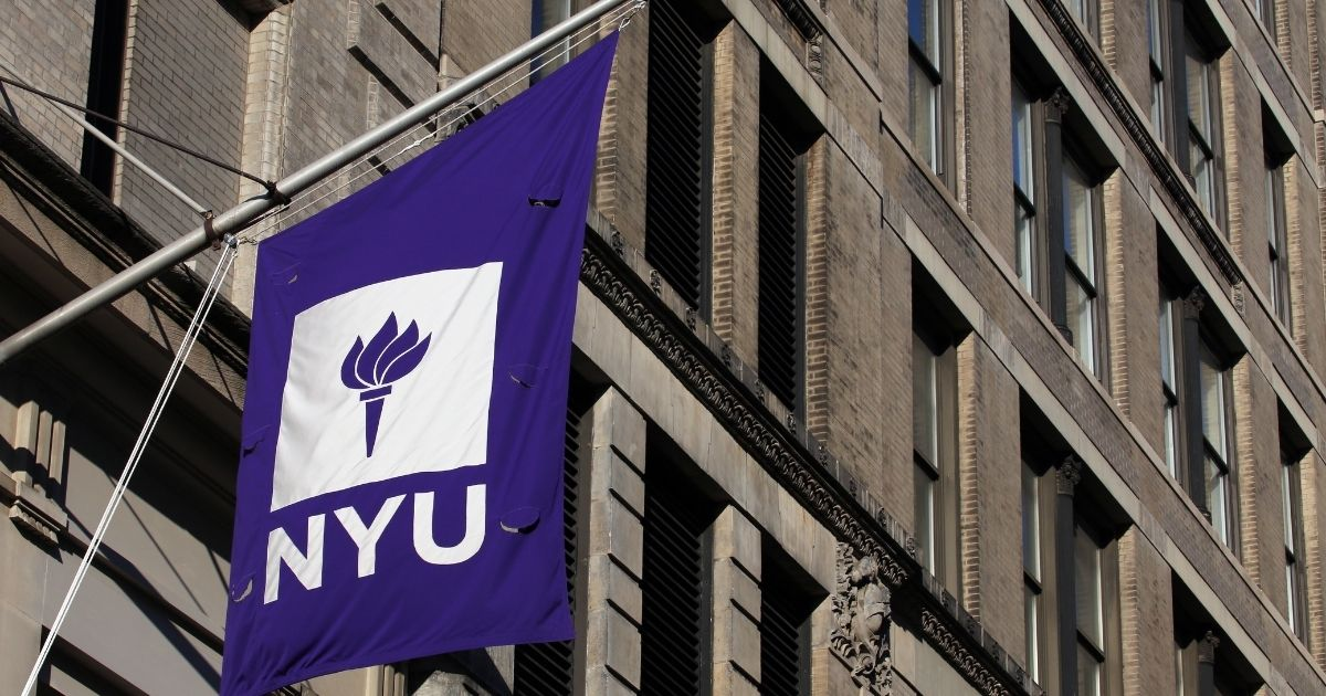 An NYU building is seen above in New York City.