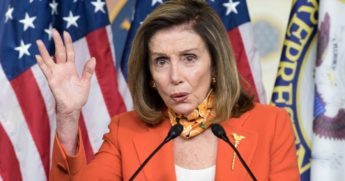 Speaker of the House Nancy Pelosi gestures during her weekly news conference at the Capitol in Washington on Sept. 24, 2020.