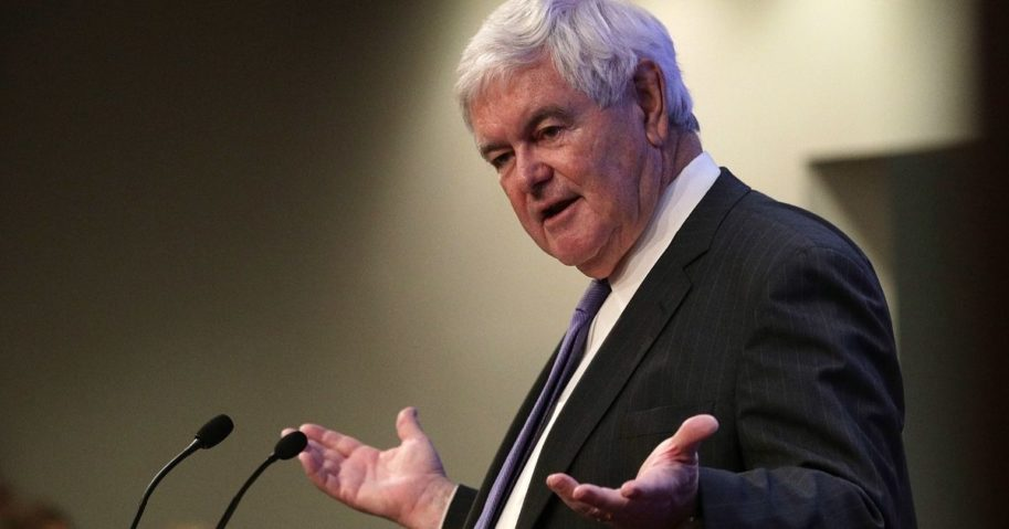 Former Speaker of the House Newt Gingrich speaks during a discussion at the Heritage Foundation on Dec. 13, 2016, in Washington, D.C.