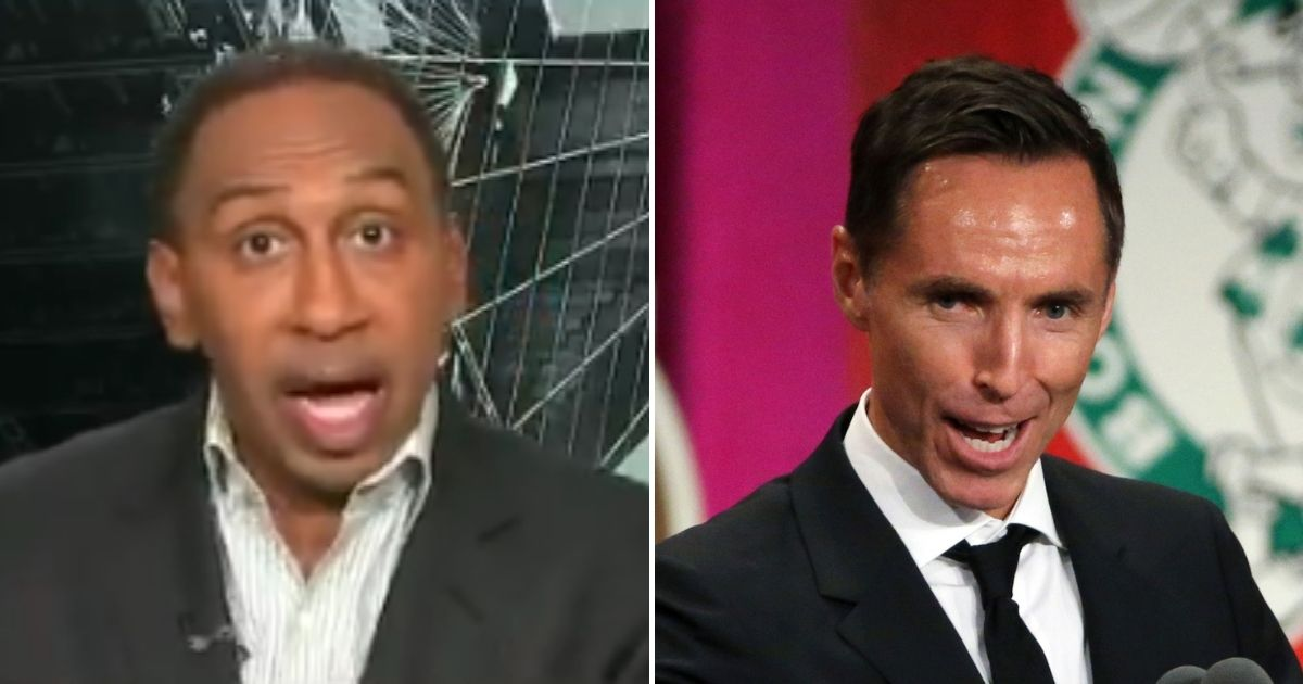 Liberal ESPN pundit Stephen A. Smith was not happy to hear that the NBA's Brooklyn Nets hired hall of fame point guard Steve Nash, a white man, as the team's new head coach.