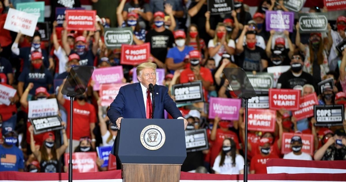 President Donald Trump speaks at Xtreme Manufacturing in Henderson, Nevada, on Sept. 13, 2020.