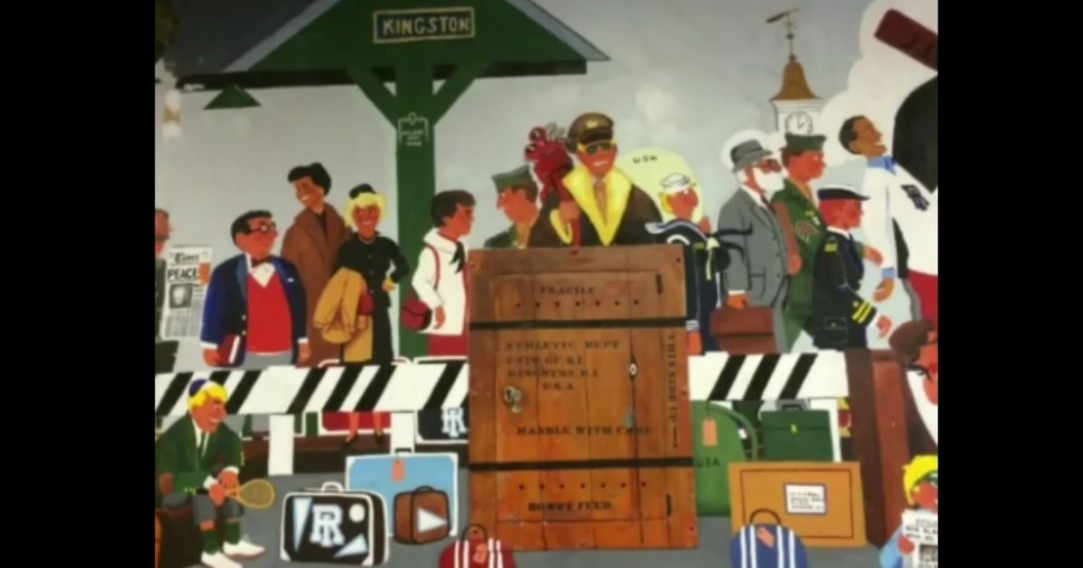 In 1953, Art Sherman was asked to paint a mural for the University of Rhode Island's new student union, the Memorial Union.