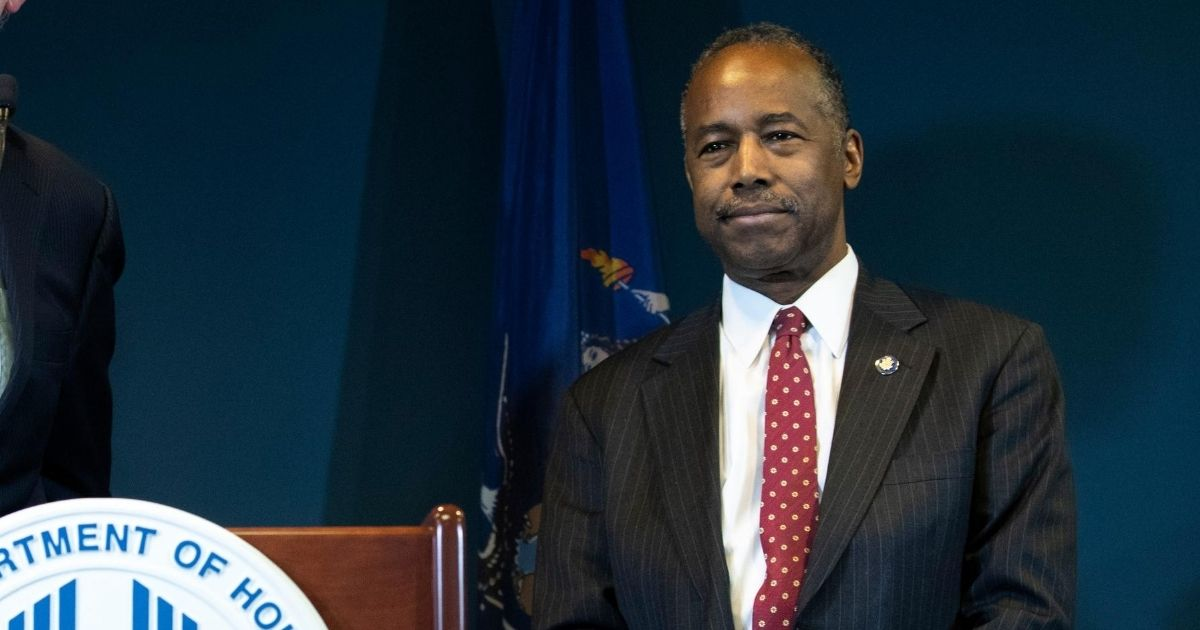 Secretary of Housing and Urban Development Ben Carson, pictured in a January 2019 file photo.