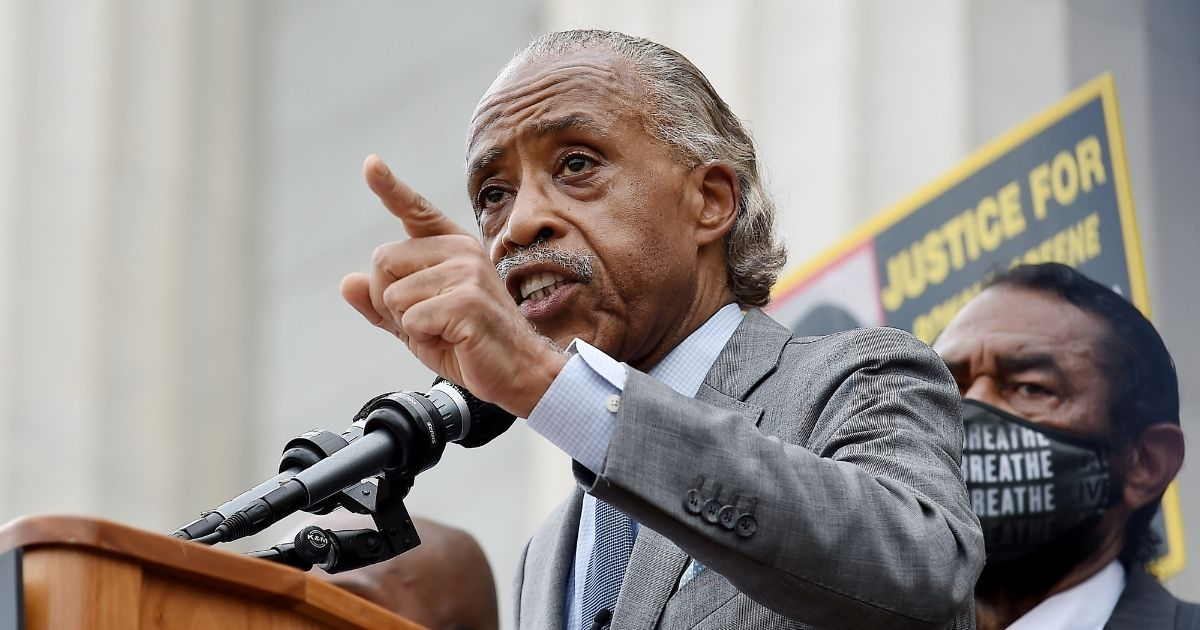 The Rev. Al Sharpton speaks during the March on Washington at the Lincoln Memorial on Aug. 28, 2020, in Washington, D.C.