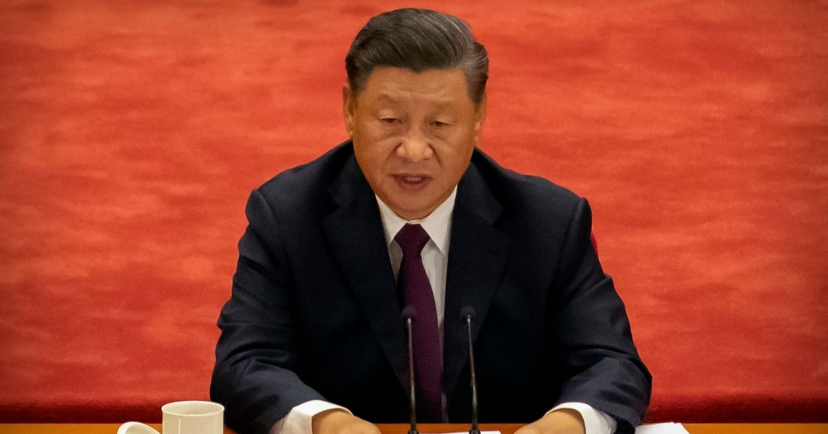 Chinese President Xi Jinping speaks during an event to honor some of those involved in China's fight against COVID-19 at the Great Hall of the People in Beijing on Sept. 8, 2020.