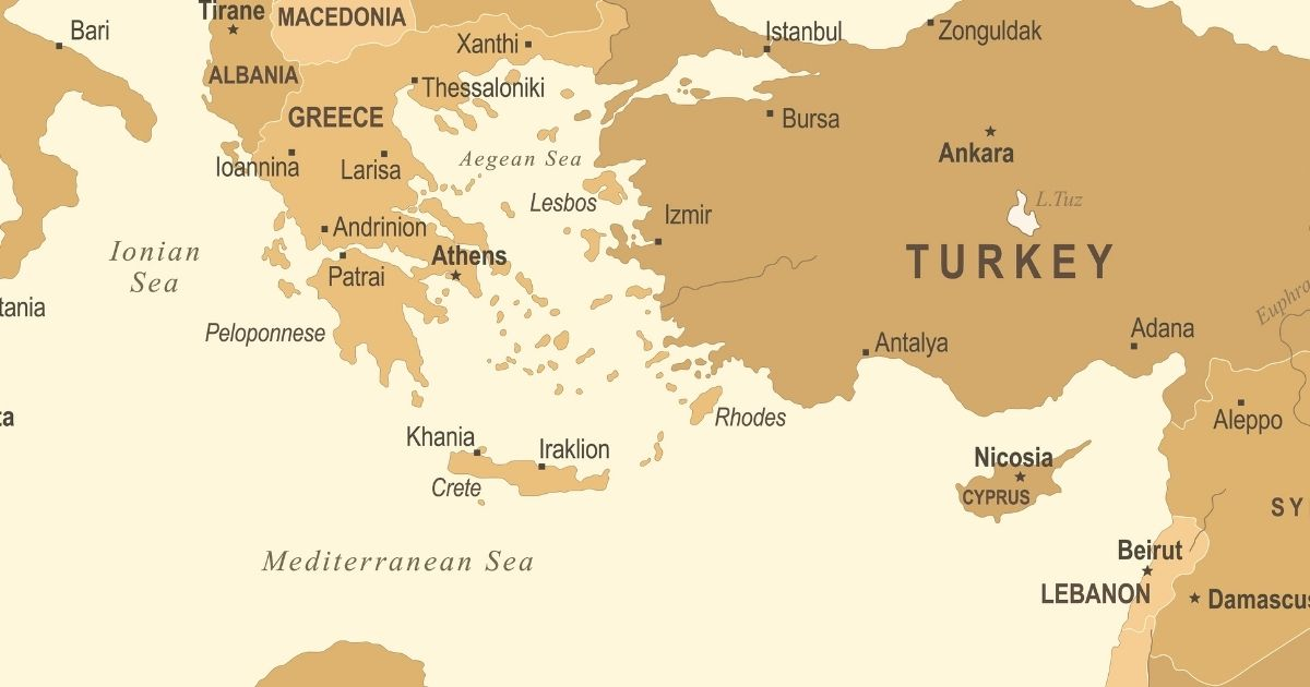 A map of the Mediterranean Sea is pictured above.