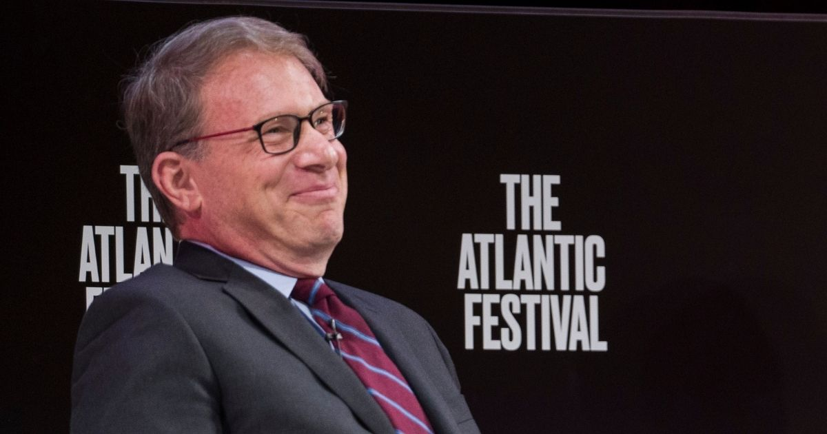 Jeffrey Goldberg, the editor-in-chief of The Atlantic, participates in a question-and-answer session with House Speaker Nancy Pelosi at the Atlantic Festival on Sept. 24, 2019, in Washington, D.C.
