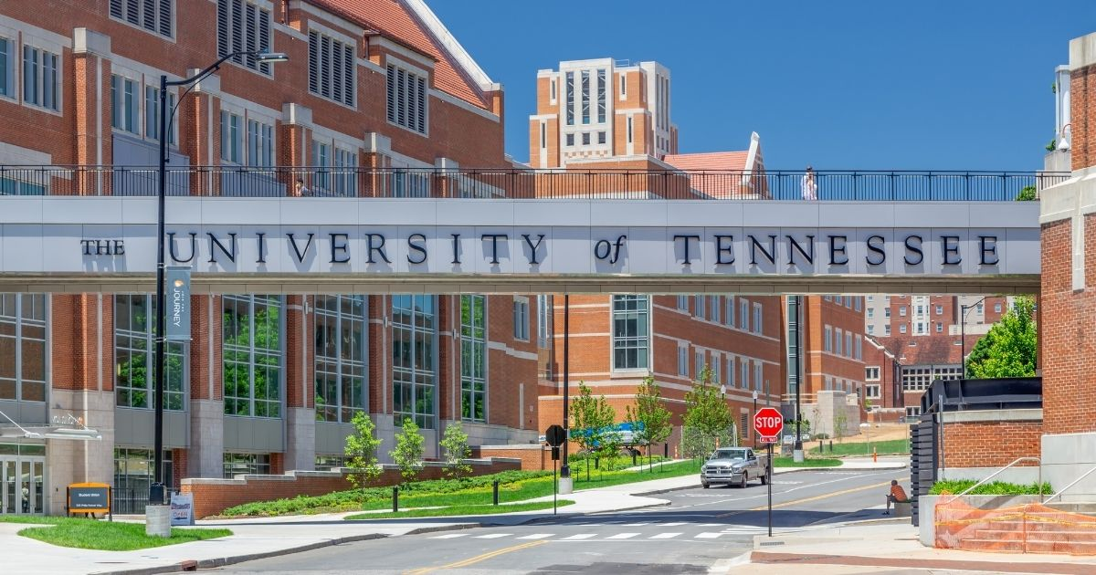 An entrance to the campus of the University of Tennessee is pictured above.