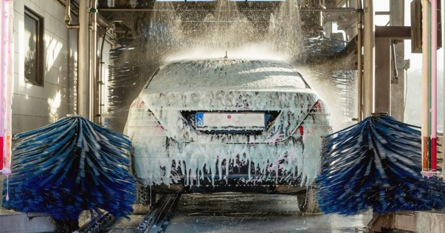 A stock image of a car wash is pictured above.