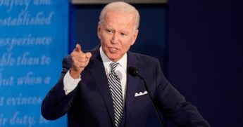 Democratic presidential nominee Joe Biden participates in the first presidential debate against President Donald Trump at the Health Education Campus of Case Western Reserve University on Tuesday in Cleveland, Ohio.