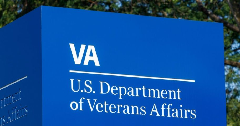 The signage and logo of the U.S. Department of Veterans Affairs in Fort Wayne, Indiana, is pictured above.
