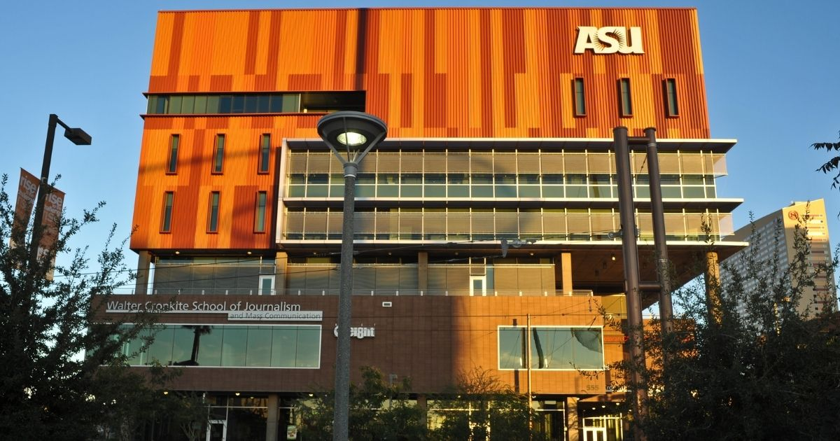 The Walter Cronkite School of Journalism and Mass Communication at Arizona State University in Phoenix is pictured above.