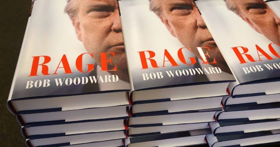 """""""Rage"""" by Bob Woodward is offered for sale at a Barnes & Noble store on Sept. 15, 2020, in Chicago."""