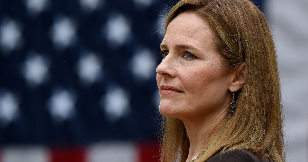 Judge Amy Coney Barrett is nominated to the US Supreme Court by President Donald Trump in the Rose Garden of the White House in Washington, D.C., on Sept, 26, 2020.