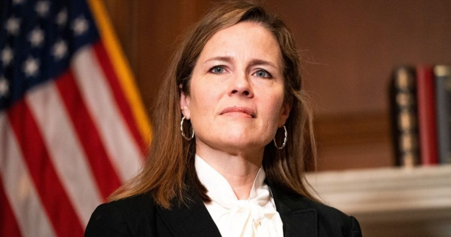 Judge Amy Coney Barrett, President Donald Trump's nominee for the Supreme Court, poses for a photo at the United States Capitol in Washington, D.C., on Oct. 1, 2020.