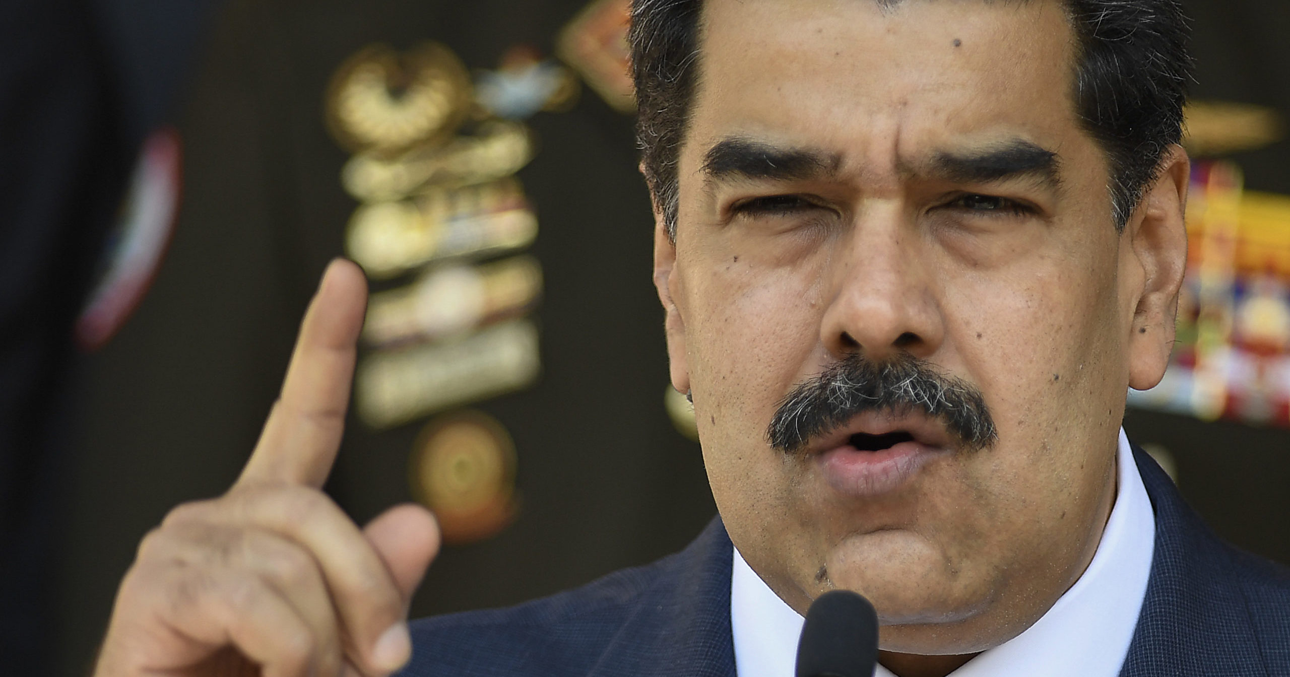In this March 12, 2020, file photo, Nicolas Maduro speaks at a news conference in Caracas, Venezuela.
