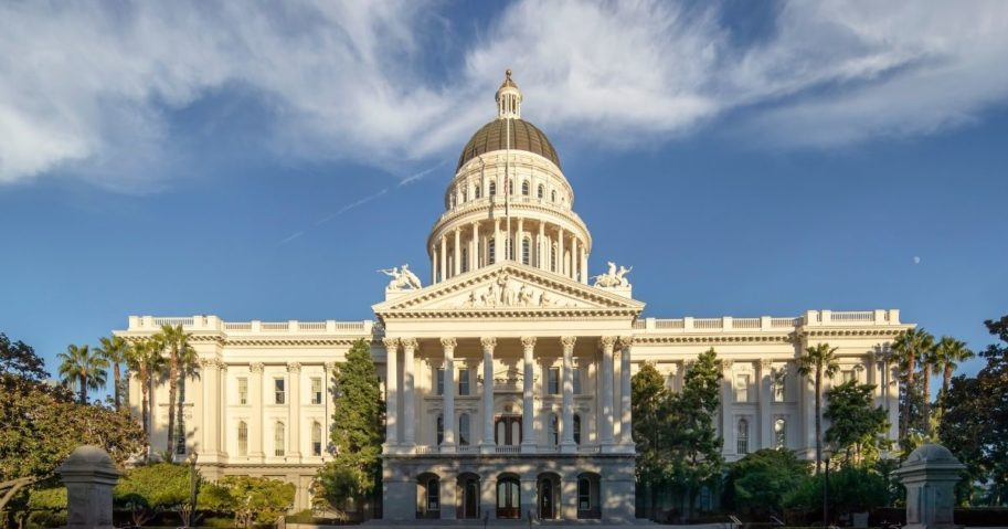 The California State Capitol is seen in the above stock image.