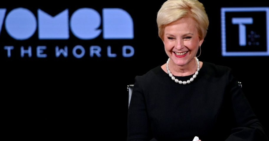 Cindy McCain speaks during the Women in the World Summit on April 12, 2019, in New York City.