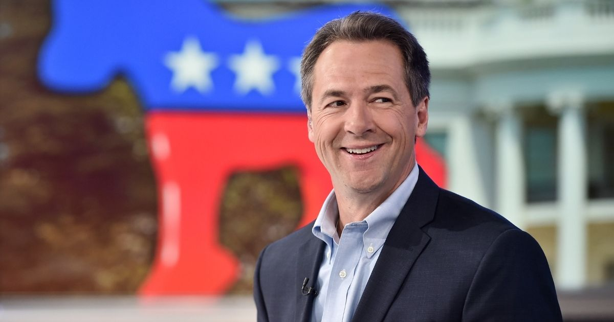 """Governor of Montana Steve Bullock visits """"The Daily Briefing"""" with Dana Perino at Fox News Channel Studios on May 15, 2019, in New York City."""