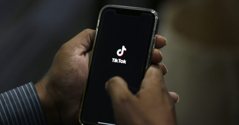 A person uses TikTok in the July 21, 2020, file photo above.