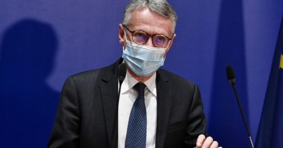 Anti-terrorism state prosecutor Jean-Francois Ricard speaks during a news conference on Sept. 29, 2020, after a man armed with a knife seriously wounded two people in a terror attack outside the former offices of French satirical weekly Charlie Hebdo in Paris.