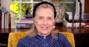 Hillary Clinton participates in a virtual event on Sept. 26, 2020.