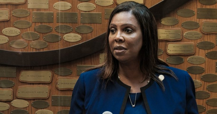New York Attorney General Letitia James speaks at a news conference on Sept. 20, 2020, in Rochester, New York.