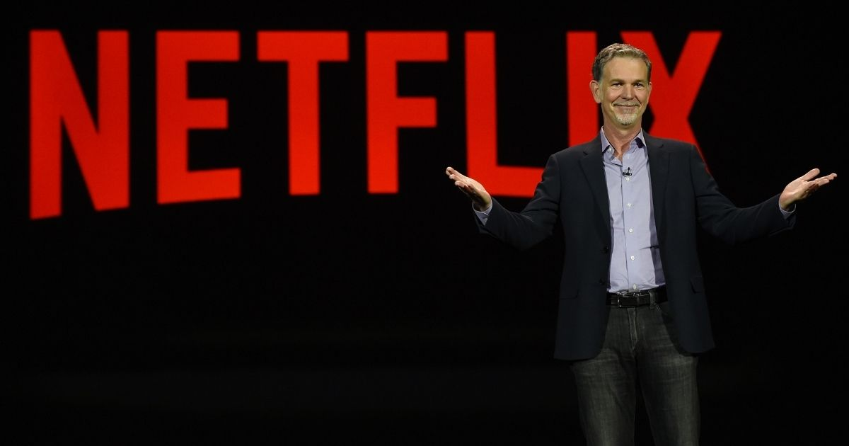 Netflix CEO Reed Hastings delivers an address at CES 2016 on Jan. 6, 2016, in Las Vegas, Nevada.