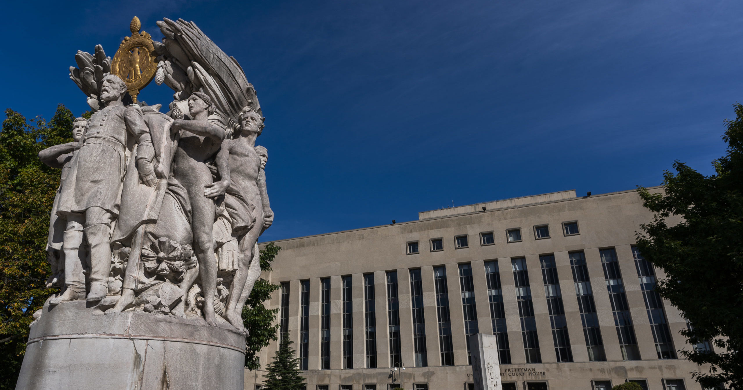 The E. Barrett Prettyman United States Courthouse is seen on Oct. 9, 2020, in Washington, D.C.