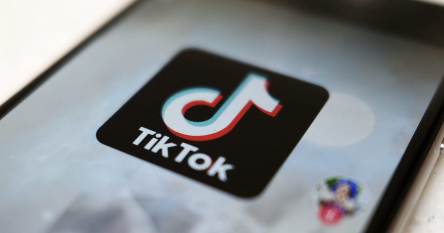 This Sept. 28, 2020, file photo, shows the logo of TikTok on a smartphone screen in Tokyo.