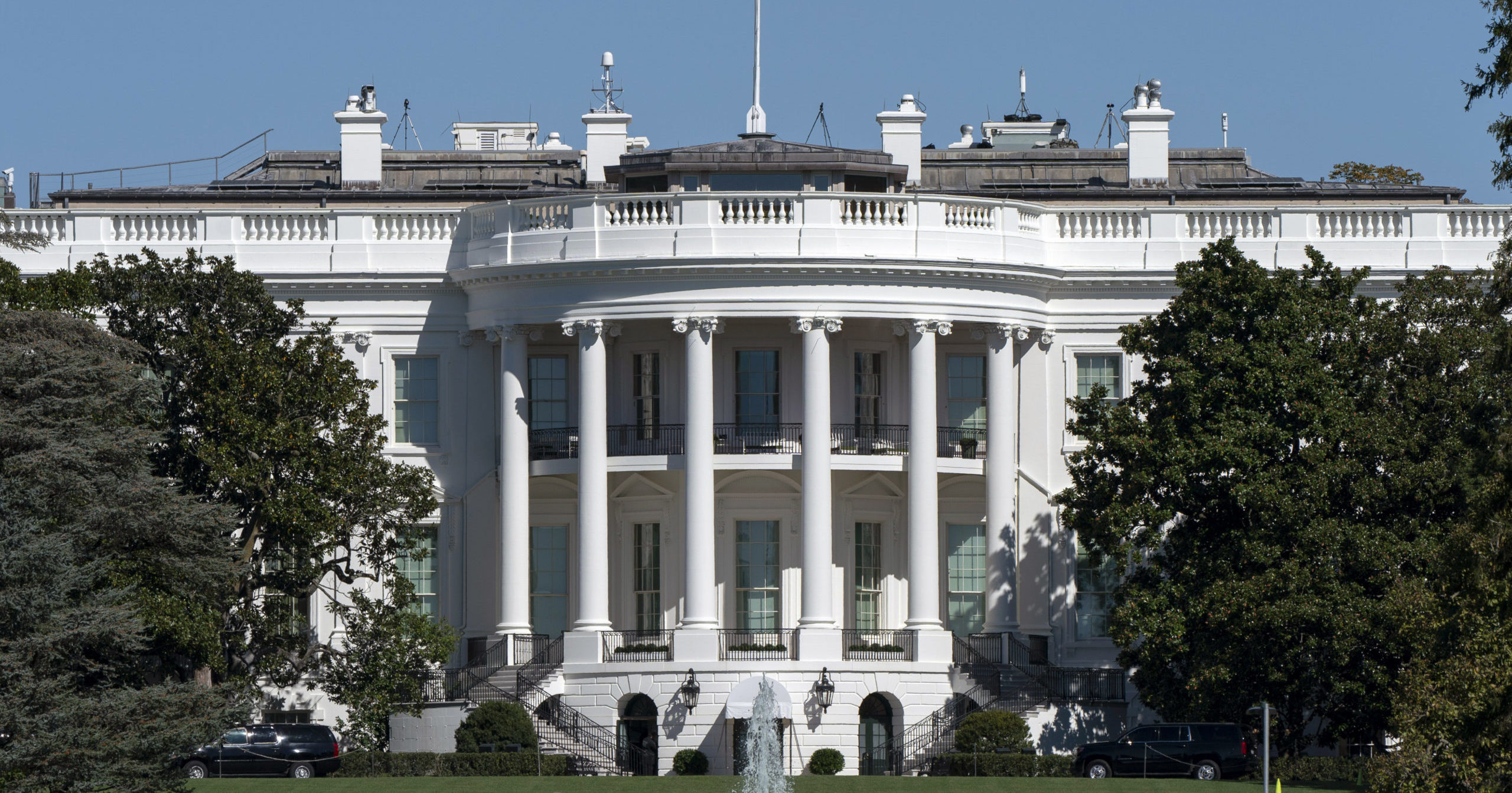 The White House is seen on Oct. 8, 2020, in Washington, D.C.