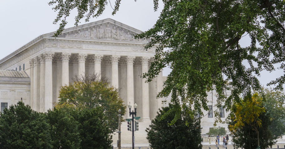 The Supreme Court is seen in Washington, D.C., on Oct. 21, 2020.