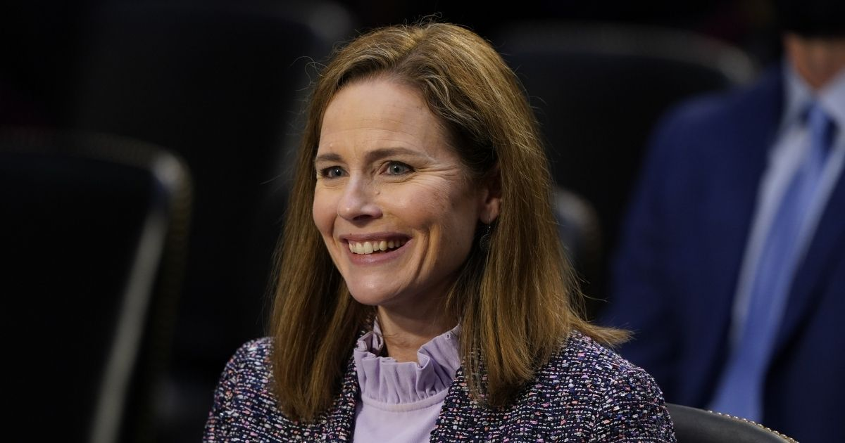 Supreme Court nominee Judge Amy Coney Barrett testifies before the Senate Judiciary Committee on the third day of her Supreme Court confirmation hearings in Washington, D.C., on Wednesday.
