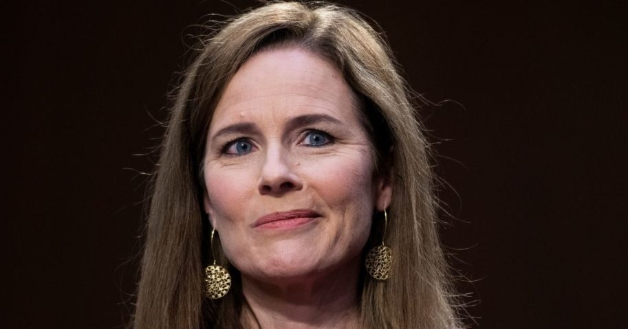 Supreme Court nominee Amy Coney Barrett appears before the Senate Judiciary Committee on the third day of her Supreme Court confirmation hearings on Capitol Hill on Wednesday in Washington, D.C.