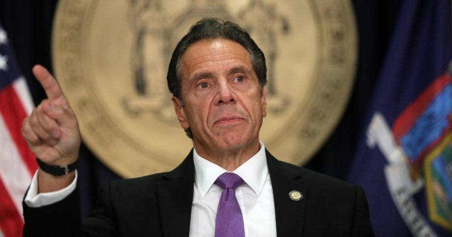 Democratic New York state Gov. Andrew Cuomo speaks at a news conference on Sept. 08, 2020.