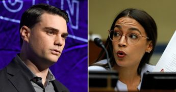 Ben Shapiro, left, schooled Democratic New York Rep. Alexandria Ocasio-Cortez after she called for the Supreme Court to be expanded.