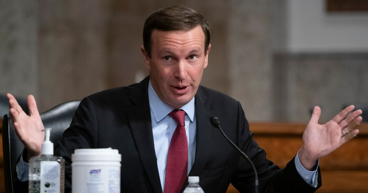 Democratic Connecticut Sen. Chris Murphy speaks at a hearing of the Senate Health, Education, Labor and Pensions Committee on Sept. 23, 2020, in Washington, DC.