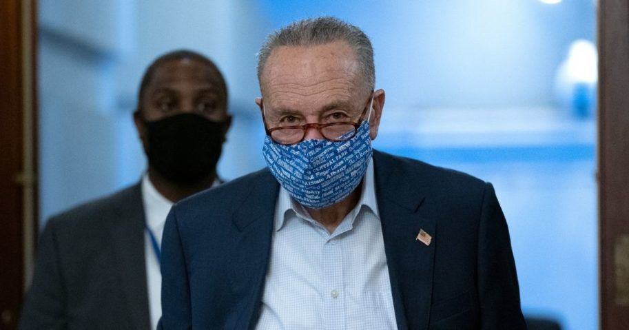 Senate Minority Leader Chuck Schumer arrives at the U.S. Capitol in Washington, D.C., on Tuesday.