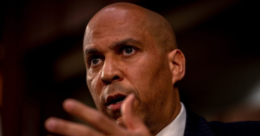 Democratic Sen. Cory Booker of New Jersey speaks during the second day of the Senate Judiciary Committee confirmation hearings for Supreme Court nominee Judge Amy Coney Barrett on Capitol Hill in Washington, D.C., on Tuesday.