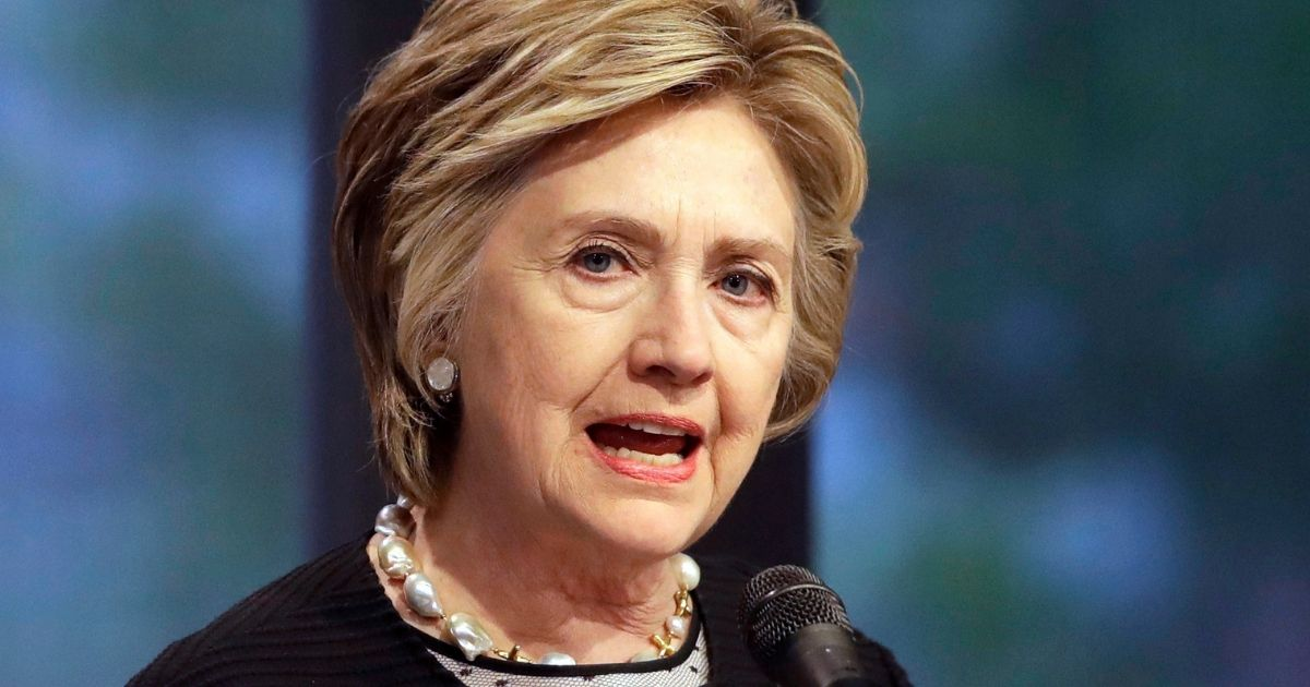 Former Democratic presidential candidate Hillary Clinton speaks in Baltimore on June 5, 2017.