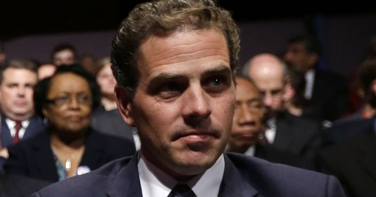 Hunter Biden, son of then-Vice President Joe Biden, waits for the start of his father's debate at Centre College in Danville, Kentucky, on Oct. 11, 2012.