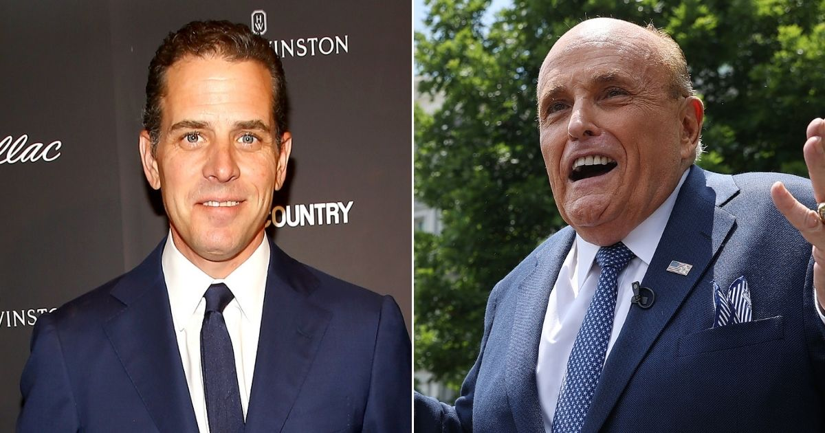 While Twitter censored a story about Hunter Biden, left, a misleading story about former New York City Mayor Rudy Giuliani went viral on the platform.
