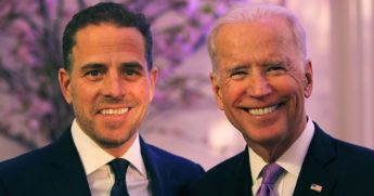 Hunter Biden and his father, then-Vice President Joe Biden, attend a World Food Program USA event in Washington on April 12, 2016.
