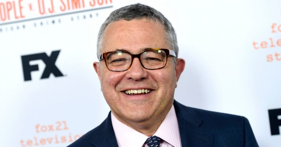 "CNN commentator Jeffrey Toobin arrives at the ""American Crime Story: The People v. O.J. Simpson"" event in Los Angeles on April 4, 2016."