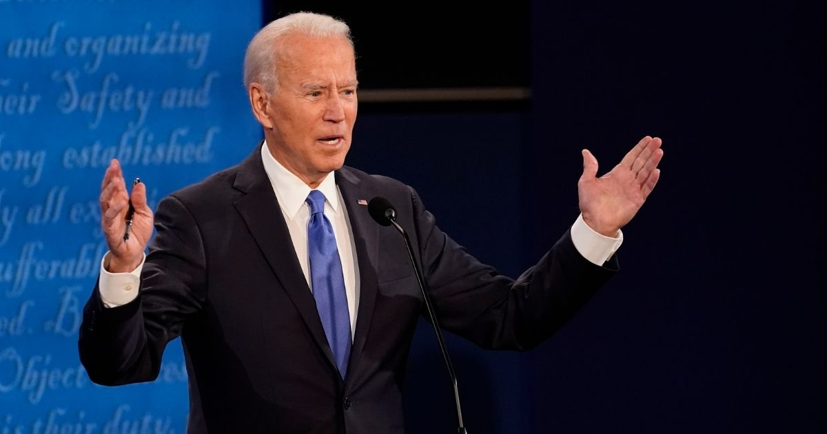 Democratic presidential candidate former Vice President Joe Biden answers a question during the second and final presidential debate at Belmont University on Thursday in Nashville, Tennessee.