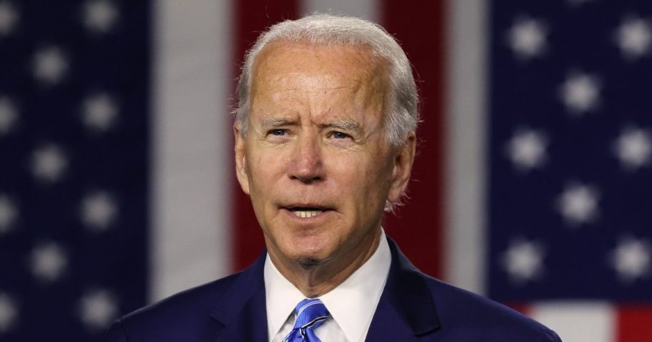 Democratic presidential candidate former Vice President Joe Biden speaks at the Chase Center on July 14, 2020 in Wilmington, Delaware.
